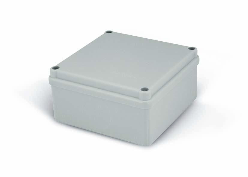 Rozvodná krabice Elcon IP65 - K100-1 - šedá
