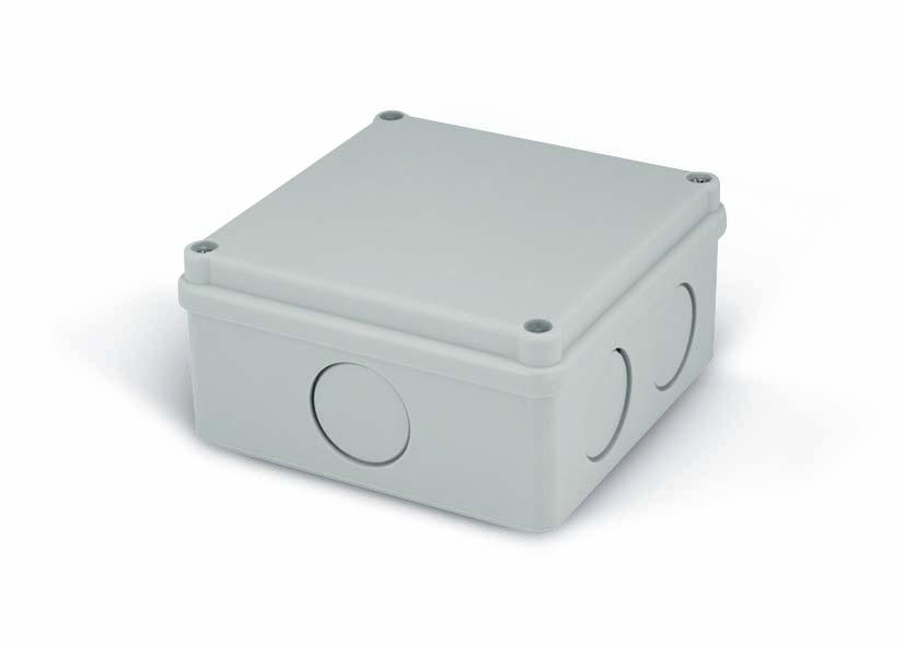 Rozvodná krabice Elcon IP65 - K100-2 - šedá, prolis