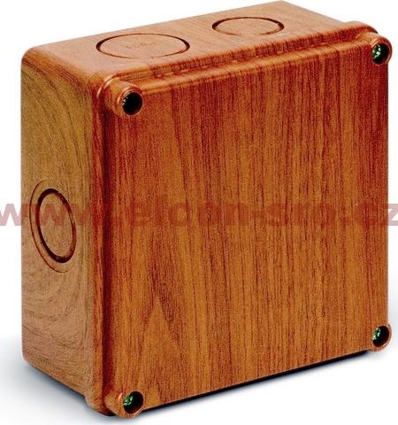 Rozvodná krabice Elcon IP65 K100-2.9 dub,prolisy