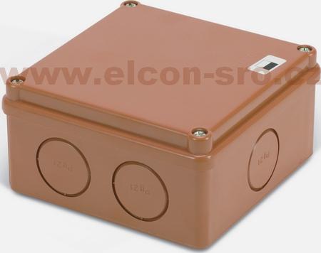 Rozvodná krabice Elcon IP65 K100-2.7C3 hnědá,prolis