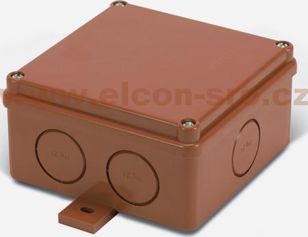 Rozvodná krabice Elcon IP65 K100U-2.7C3 hnědá